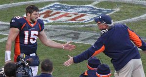 Tim Tebow as quarterback of the Denver Broncos