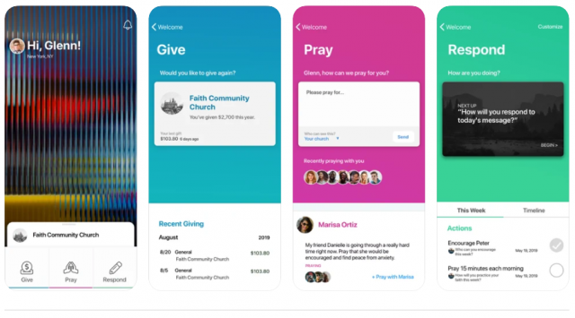 A screenshot of the FaithStreet app available in the Apple App Store.